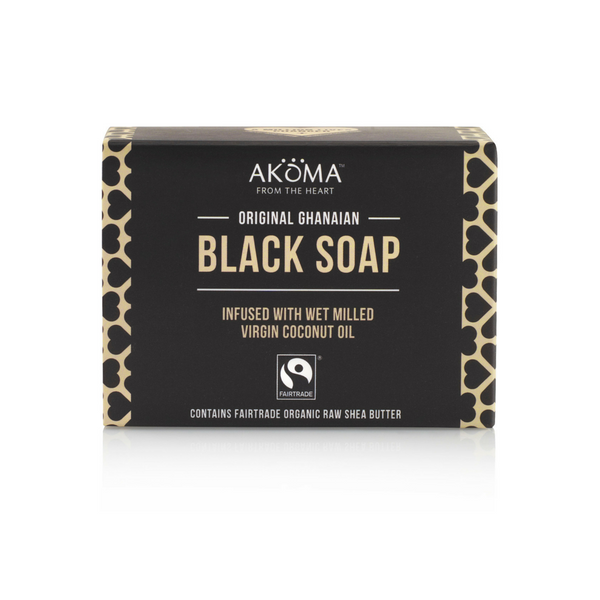 Akoma African Black Soap Bar (145g) - Melariche