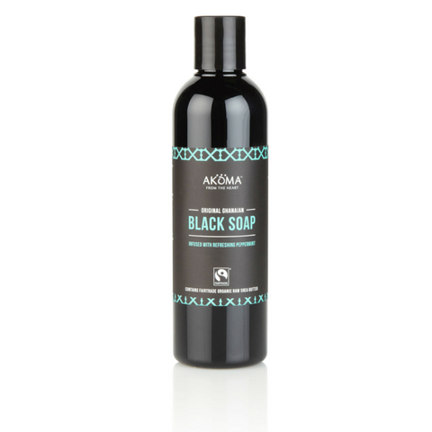 Akoma Liquid Black Soap with Peppermint (250ml) - Melariche