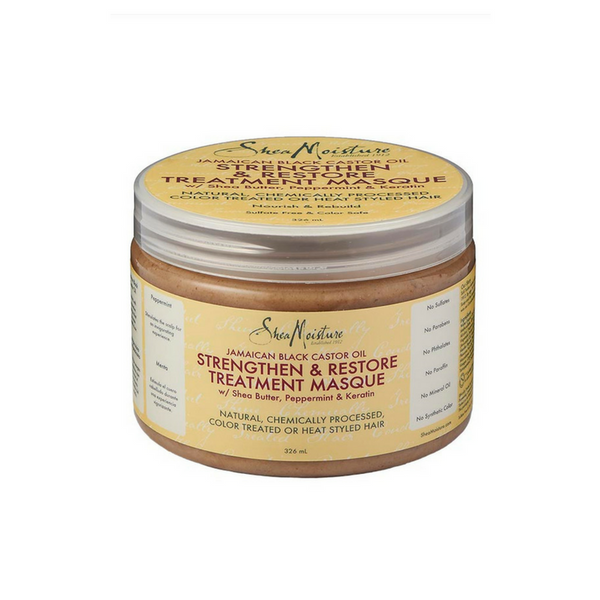 Shea Moisture Jamaican Black Castor Oil Strengthen & Restore Treatment Masque (326ml) - Melariche
