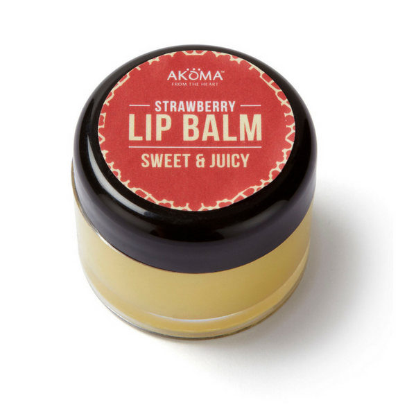Akoma Strawberry Lip Balm (Pots) - Melariche