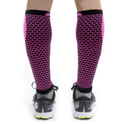 Native Planet Honeycomb Compression Sleeve - Pink and Black