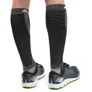 Native Planet Honeycomb Compression Sleeve - Black and Gray