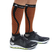 Native Planet Honeycomb Compression Sleeve - Orange and Black