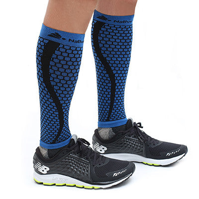 Native Planet Honeycomb Compression Sleeve - Black and Blue