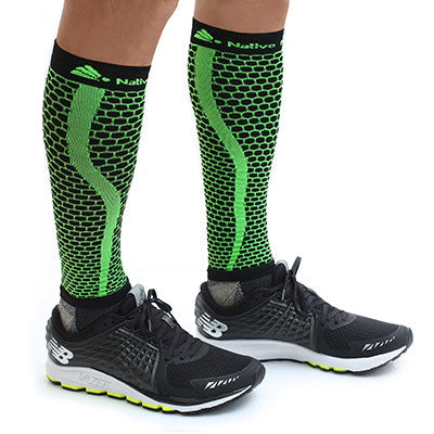 Native Planet Honeycomb Compression Sleeve - Green and Black