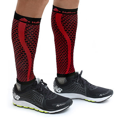 Native Planet Honeycomb Compression Sleeve - Black and Red