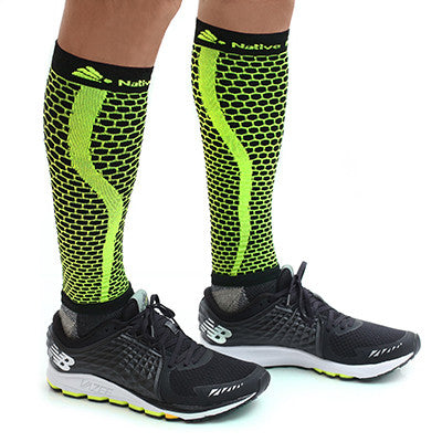 Native Planet Honeycomb Compression Sleeve - Yellow and Black