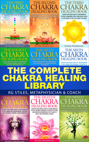 Chakra Oils Kit - (9 - 18ml Bottles) - Anointing Oils & - Complete Chakra Healing Library - (BUY BUNDLE & SAVE)-Bundle-PurePlant Essentials