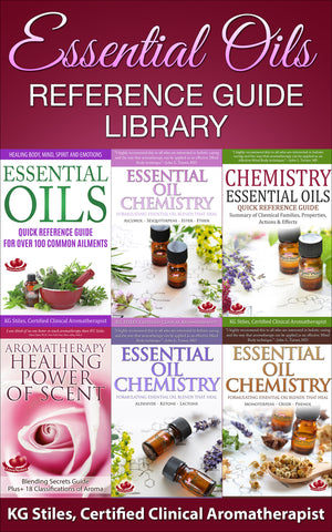 Essential Oils Reference Guide Library -- BUY 6 BOOK BUNDLE & SAVE --  By KG Stiles-ebook-PurePlant Essentials