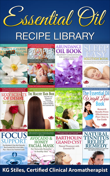 Aromatherapy Recipe Library - BUY 12 BOOK BUNDLE & SAVE - By KG Stiles-ebook-PurePlant Essentials