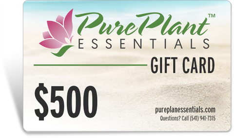 Gift Cards - PurePlant Essentials -- Click on a Dollar Amount to purchase your Gift Card!-Gift Card-PurePlant Essentials