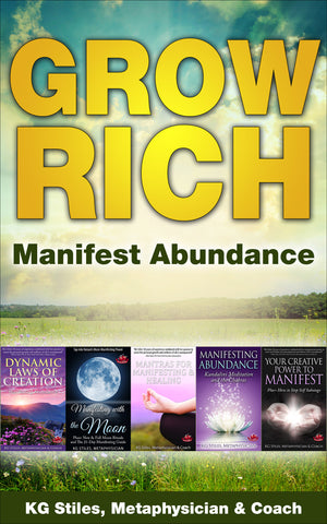 Grow Rich Manifest Abundance - (BUY BUNDLE & SAVE) - By KG Stiles-ebook-PurePlant Essentials
