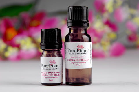 Cold & Flu Relief -- Natural Cold & Flu Remedy -- Ready-to-use 10% Dilution-Essential Oil Dilution-PurePlant Essentials