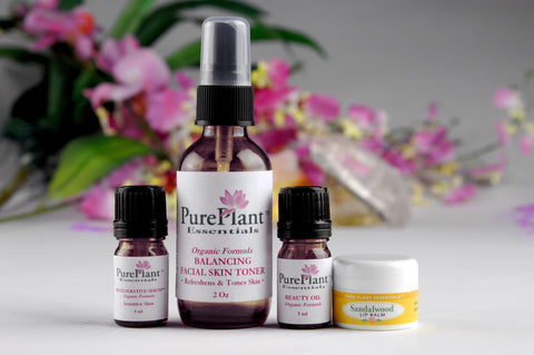 Beauty Skin Care Kit for Sensitive Skin -- Complete Skin Care & Beauty Enhancement System-Essential Oil Kit-PurePlant Essentials