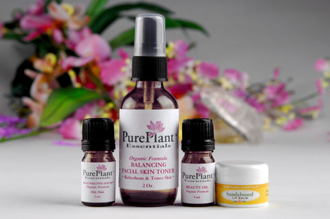 Beauty Skin Care Kit for Oily Skin -- Complete Skin Care & Beauty Enhancement System-Essential Oil Kit-PurePlant Essentials