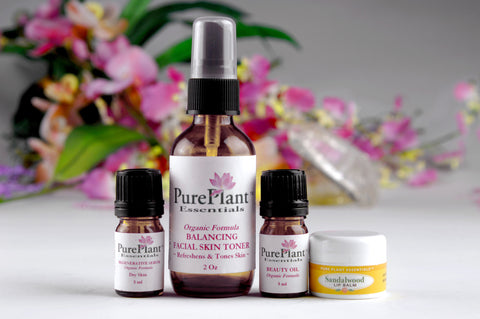 Beauty Skin Care Kit for Dry to Normal Skin -- Complete Skin Care & Beauty Enhancement System-Essential Oil Kit-PurePlant Essentials
