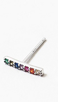 Sterling Silver-Rainbow Bar Earring