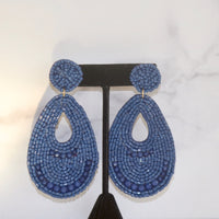 Teardrop Beaded Earring (4 Colors)