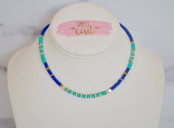 Heishi Blues Necklace