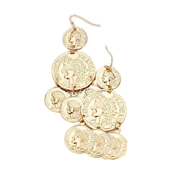 Trendy Dangle Coin Earrings