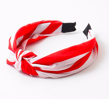 Red and White Striped Headband