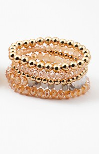 Gold x Natural Topaz Bead Stack