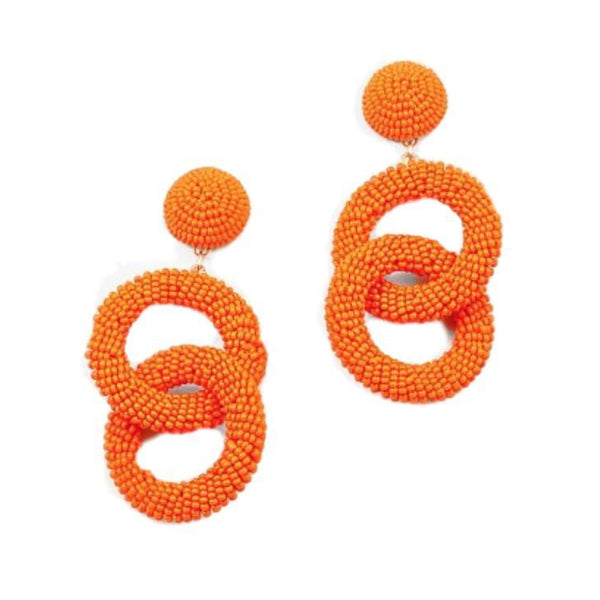 Cool Wave Earrings Orange