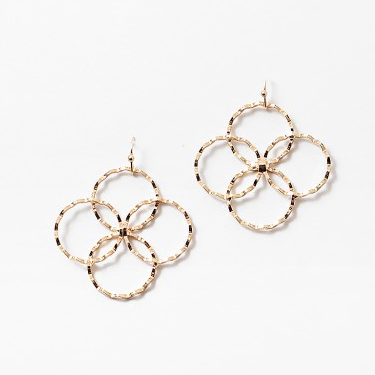 Gold Geometric Circle Earring