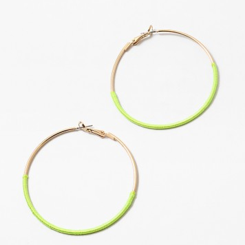 Gold Hoop with Thread Wrap(2 Colors)