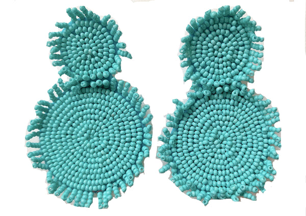 Flower Beaded Earring (3 Colors)