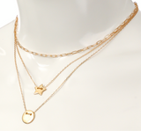 Gold Chain Layer Star Choker