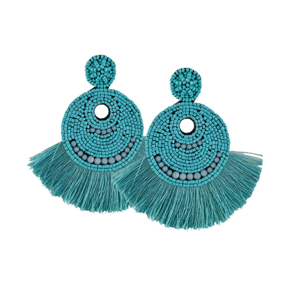Statement Beaded Fringe Earring (2 Colors)