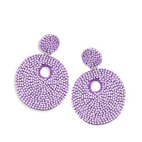 Statement Circle Earrings Lavender