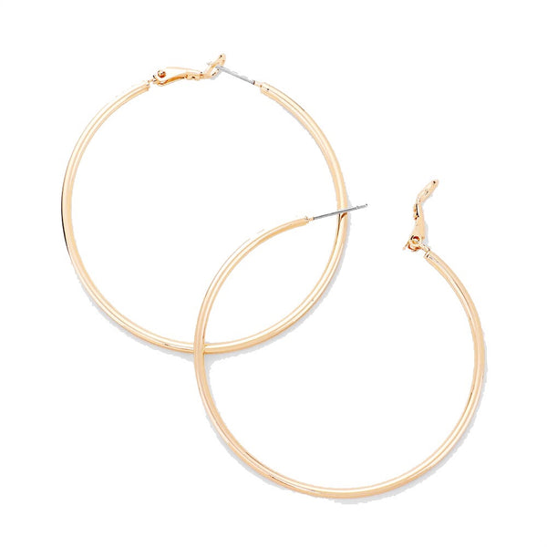 14K Gold Dipped Classic Gold Hoop