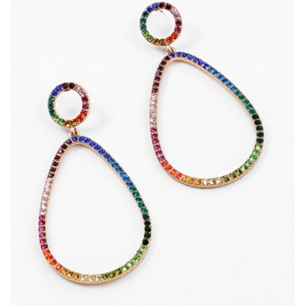 Rainbow Drop Jewel Earrings