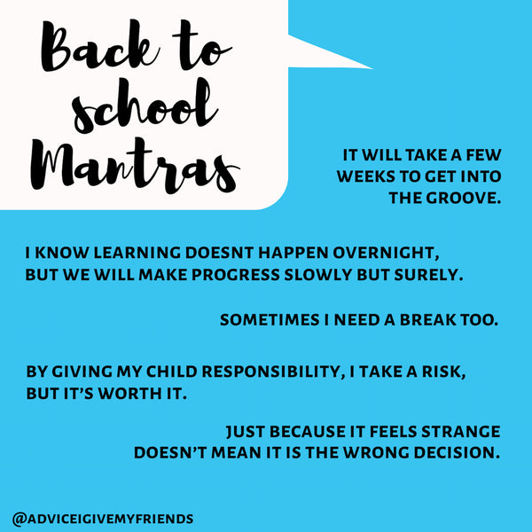 Back to School Mantras by Dr. Kelly Fradin