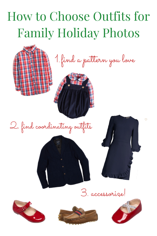 How to choose outfits for Family Holiday photos by Little English