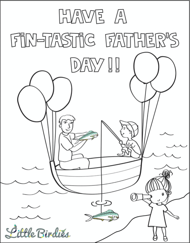 fathers day coloring page from Little Birdies Boutique