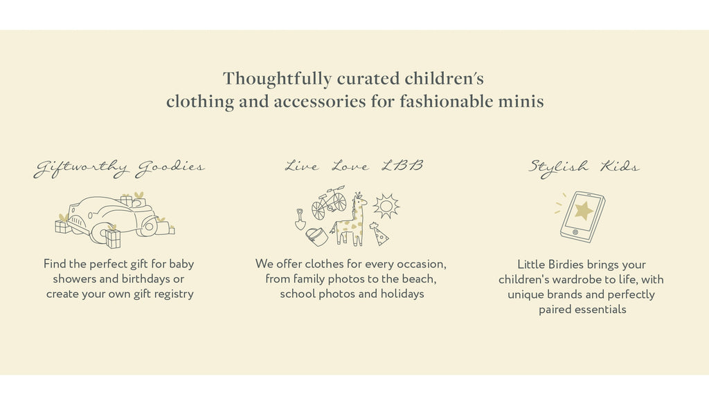 thoughtfully curated children's clothing little birdies