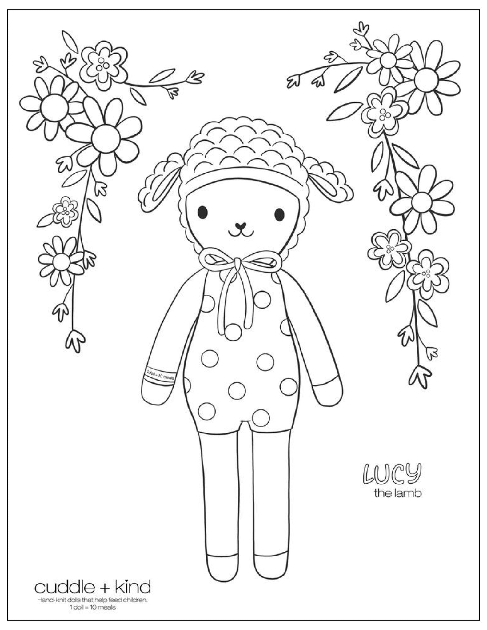 cuddle and kind lucy coloring page