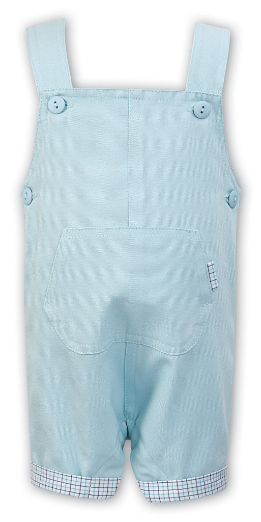 sarah louise boys overall with contrast lining