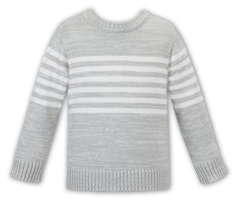 Sarah Louise England Grey striped boys sweater