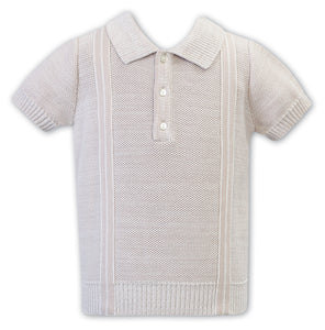 Sarah Louise boys knit short sleeve polo shirt