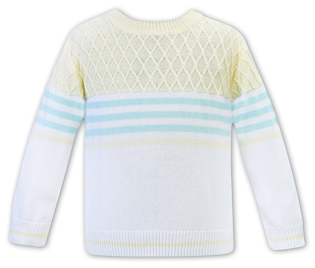 sarah louise of england pastel stripe sweater