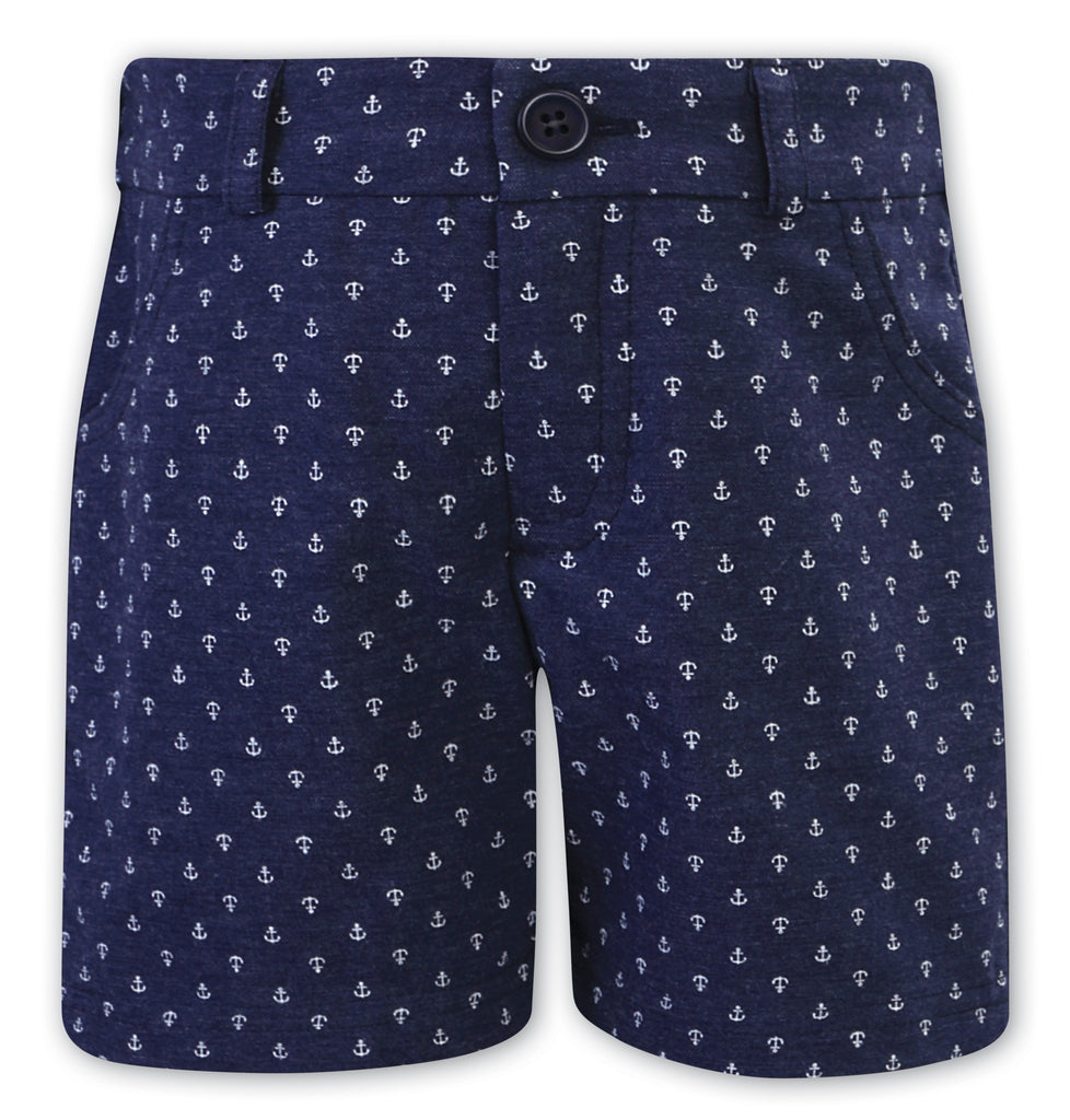 Sarah louise blue anchor shorts for boys
