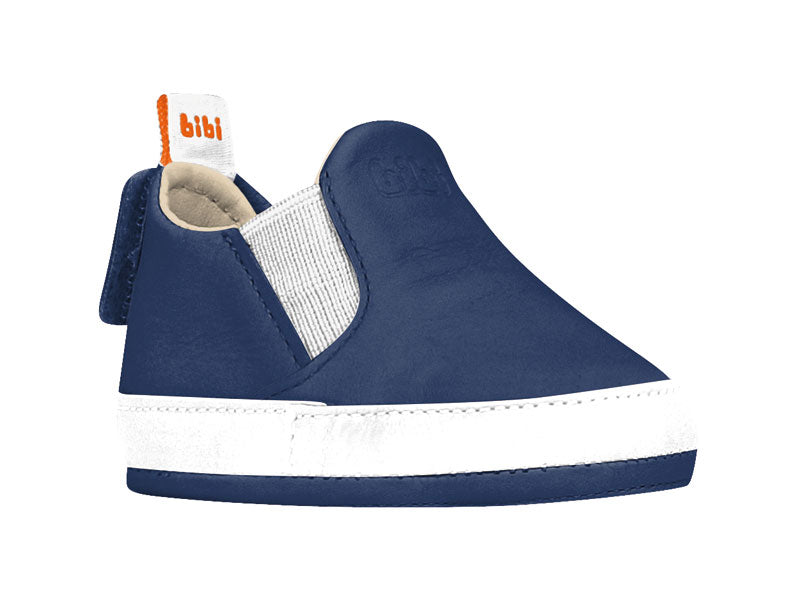 Bibi Brazil boys navy crib shoe