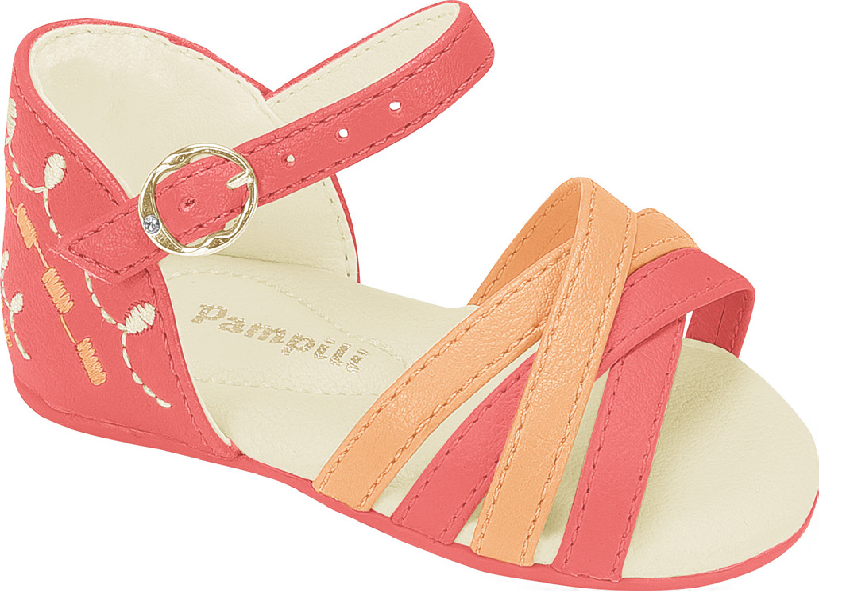 Pampili girls coral sandal