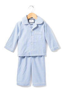Blue Seersucker Pajamas Set