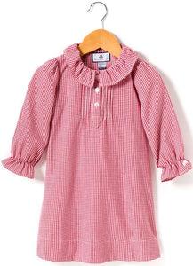 Victoria Red Gingham Nightgown