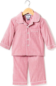 Red Seersucker Pajamas Set
